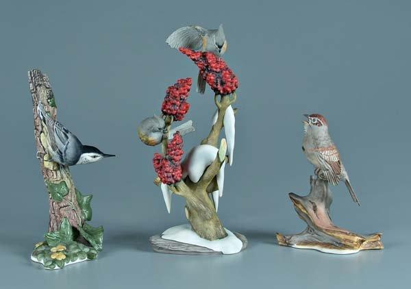 1: Three Boehm porcelain bird figurines: