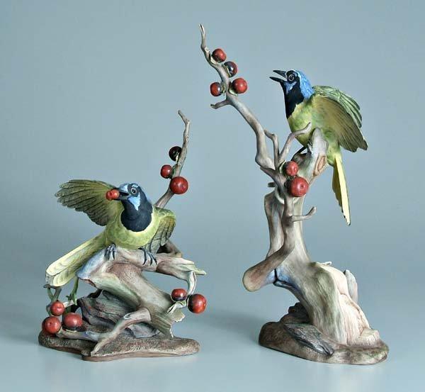 9: Two Boehm porcelain bird figurines: