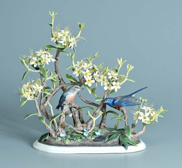 10: Boehm porcelain bird group: