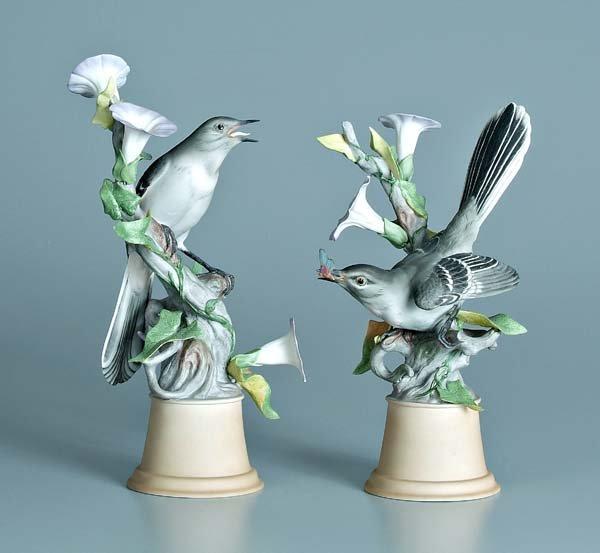 11: Two Boehm porcelain bird figurines:
