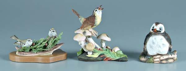 13: Three Boehm porcelain bird figurines: