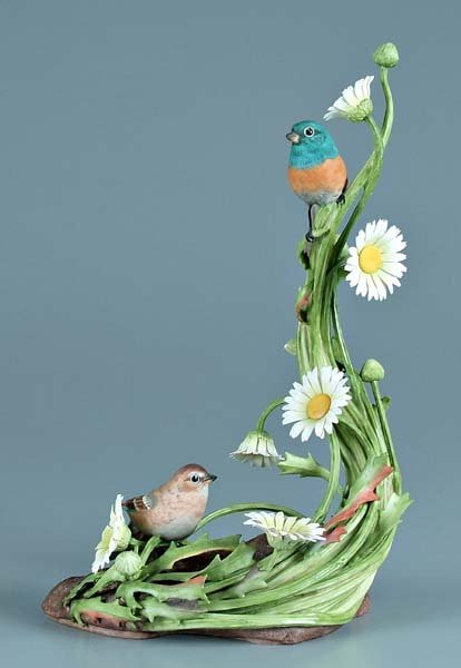 15: Boehm porcelain bird group,