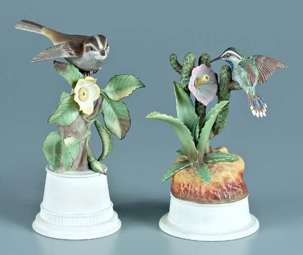 17: Two Boehm porcelain bird figurines: