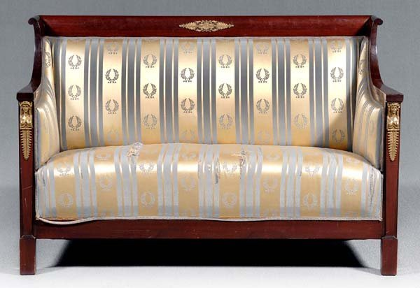 18: French Empire style settee,