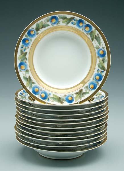 21: Set of 12 Sèvres porcelain bowls:
