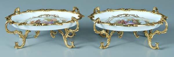 23: Pair ormolu mounted Sèvres bowls: