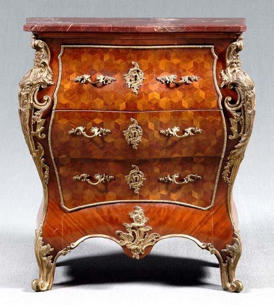 24: Louis XV style bombé commode,