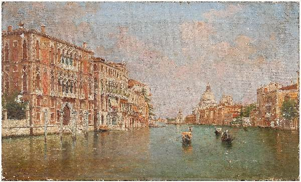 512: Venetian canal painting,