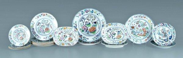 662: 20 pieces ironstone china: