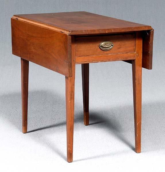 663: Walnut Federal Pembroke table,
