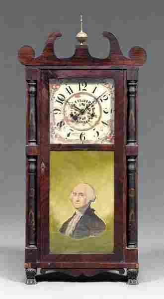 Classical mahogany shelf clock,