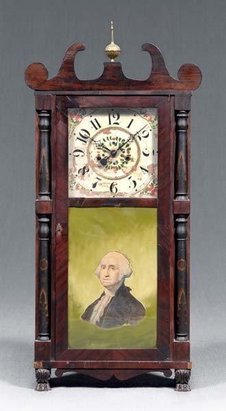 1051: Classical mahogany shelf clock,