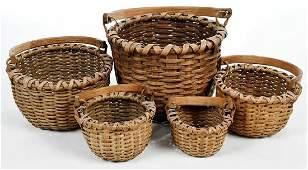 Set Five Split Oak Nesting Baskets