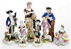 Six 19th Century Porcelain Figurines