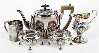 Five Pieces English Silver