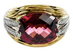 Spark 18kt Tourmaline  Diamond Ring