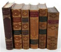 Five Sets Leather Bound Books