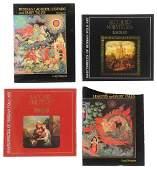 Four Russian Folk Art Lacquer Miniatures Books