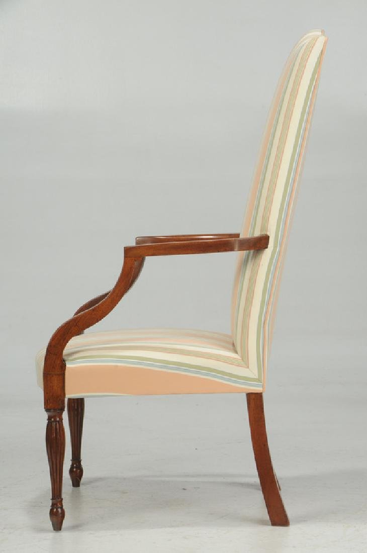 Fine Federal Inlaid Mahogany Lolling Chair - 4