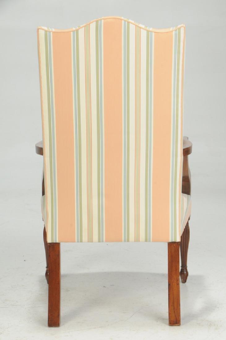 Fine Federal Inlaid Mahogany Lolling Chair - 5