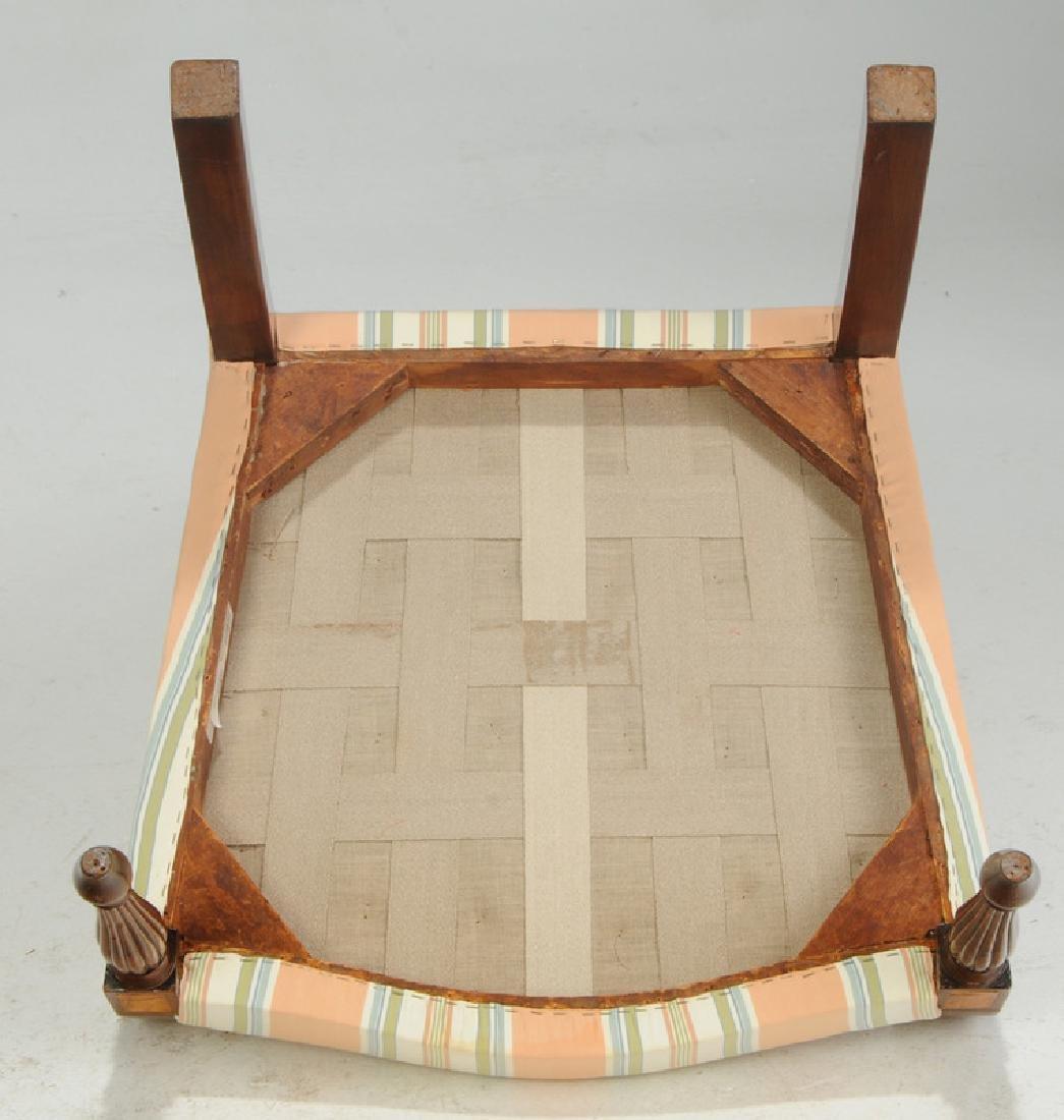 Fine Federal Inlaid Mahogany Lolling Chair - 6