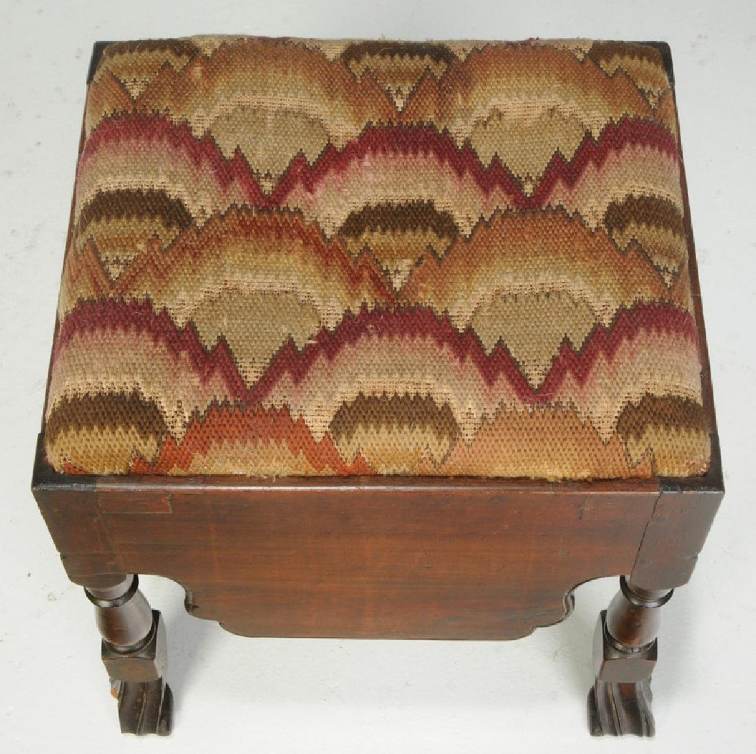 Queen Anne Mahogany Footstool - 2