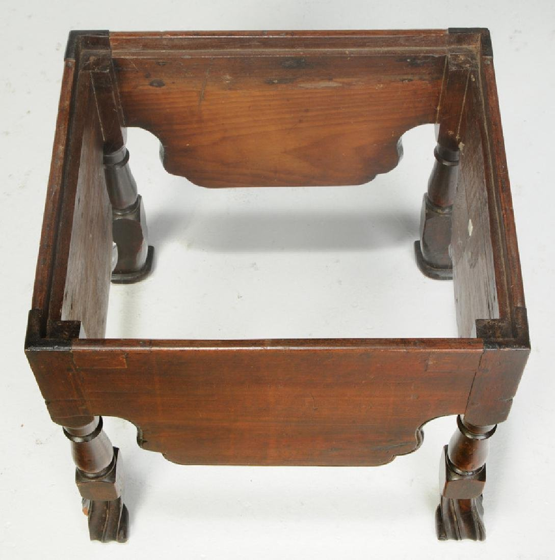 Queen Anne Mahogany Footstool - 3