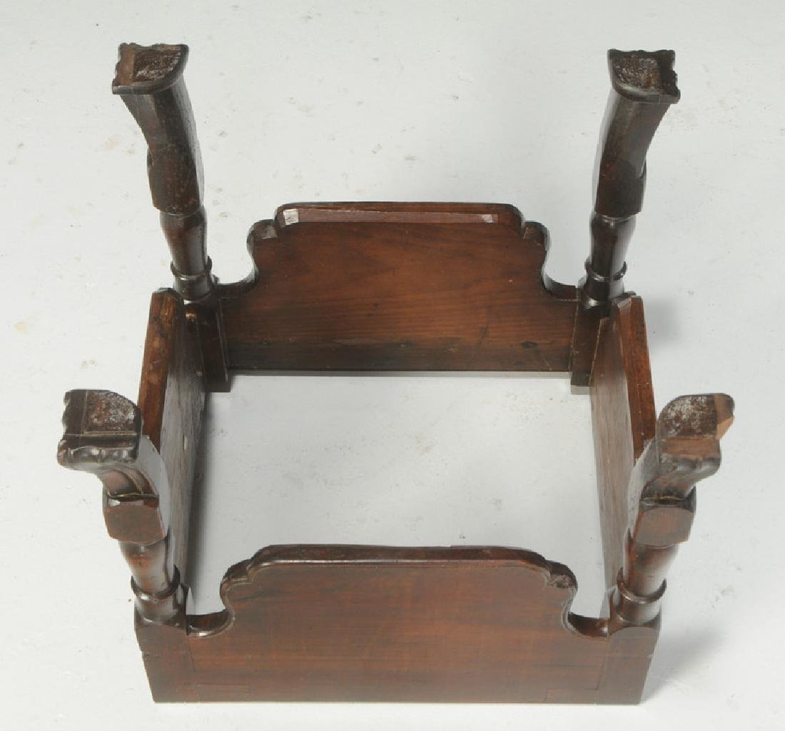 Queen Anne Mahogany Footstool - 4