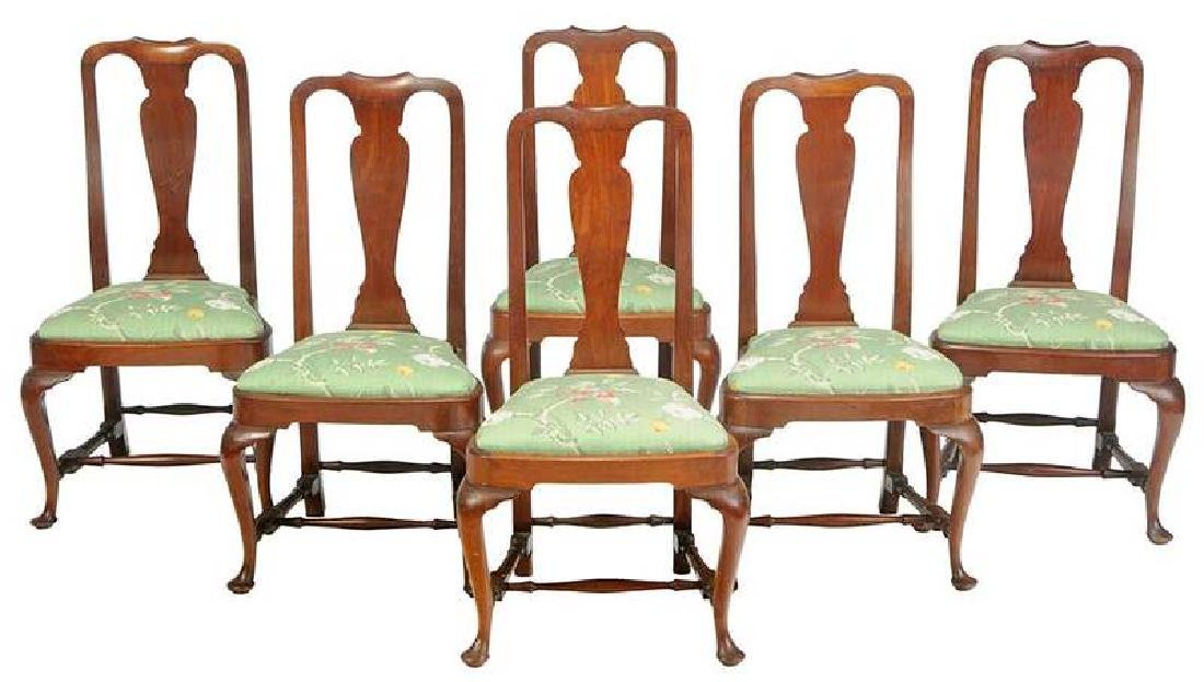 Antiques Diligent Perfect Pair Of Queen Anne Style Mahogany Chairs