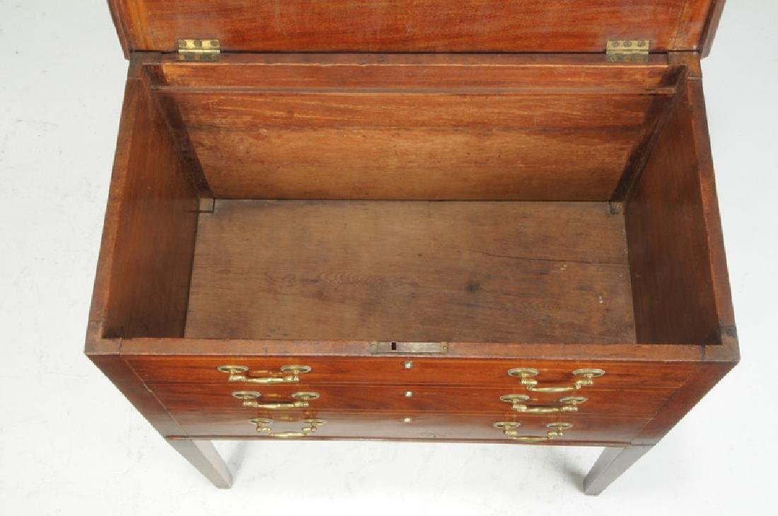 Southern Federal Inlaid Mahogany Silver Chest - 2