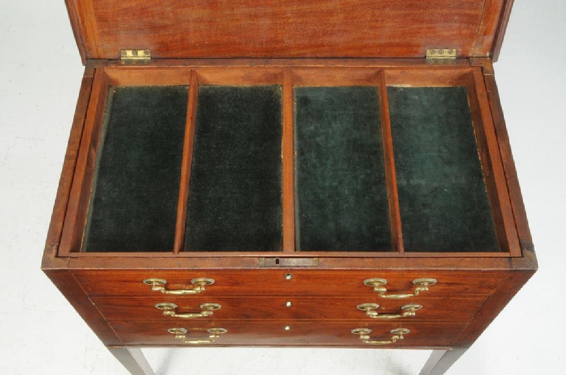 Southern Federal Inlaid Mahogany Silver Chest - 4