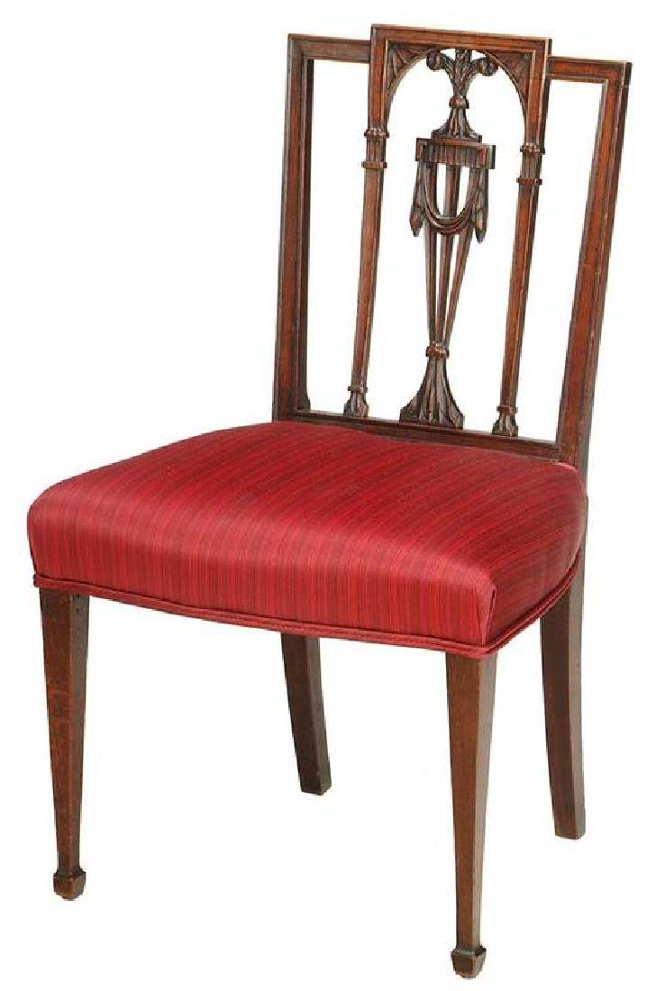 American Federal Carved Mahogany Side Chair