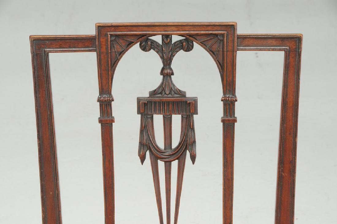 American Federal Carved Mahogany Side Chair - 2