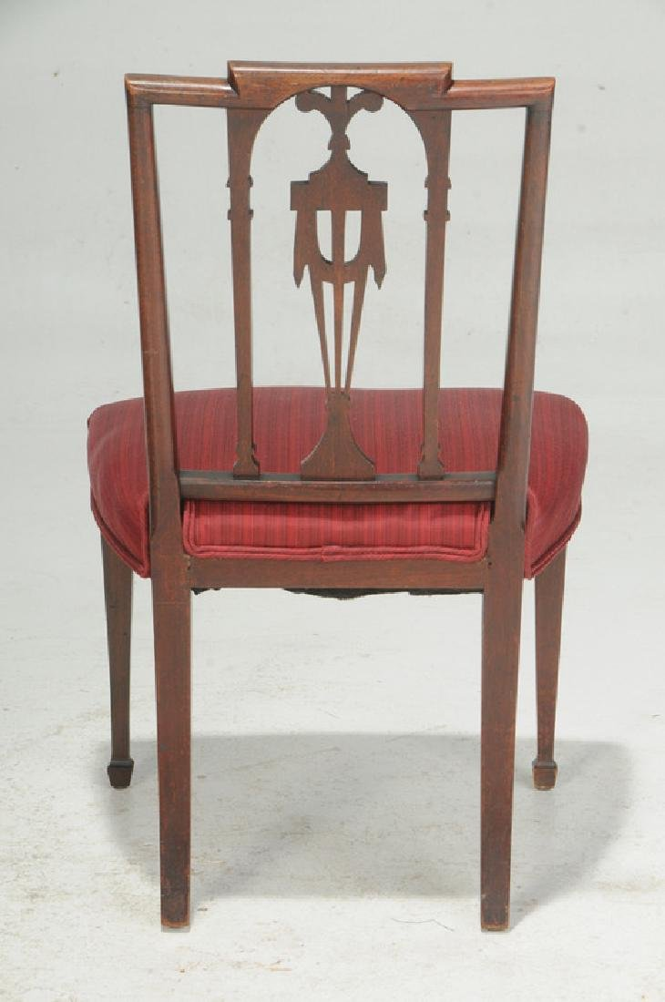 American Federal Carved Mahogany Side Chair - 4