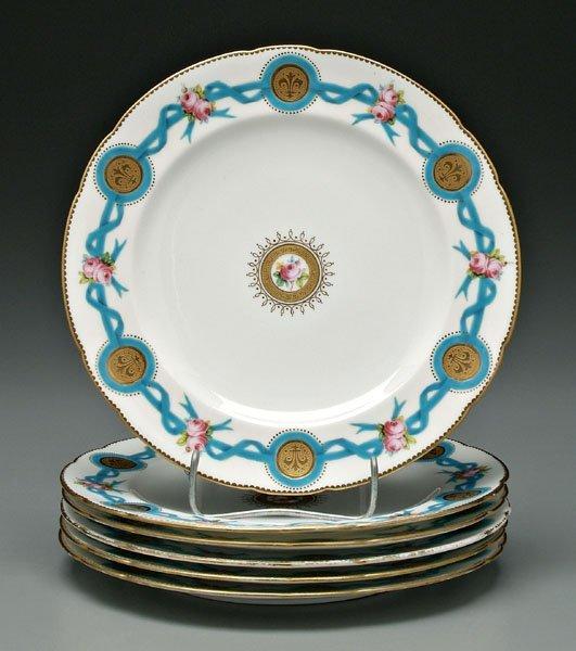 2: Six Mintons plates: