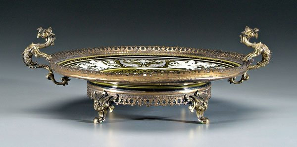 4: German porcelain charger,
