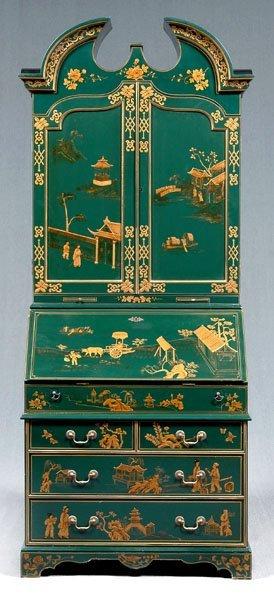 22: Japanned desk/bookcase,