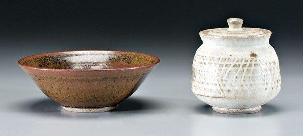 30: Two pieces Karen Karnes pottery: