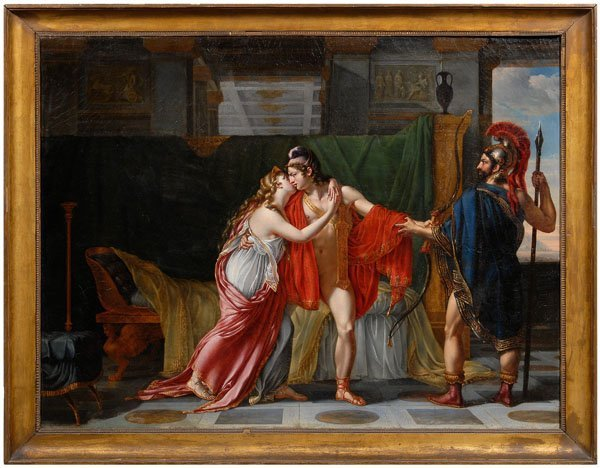 172: Period French neoclassical painting,