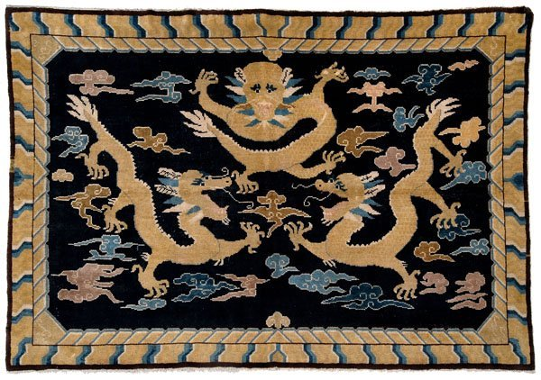 215: Chinese pictorial rug,