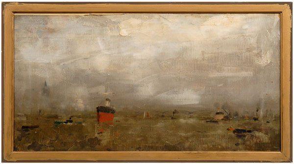 "439: Painting signed ""P. Nauen"","