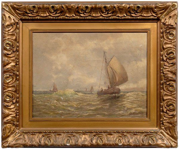 Maritime painting signed Wilkinson,