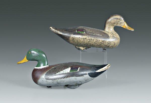 680: Two mallard duck decoys:
