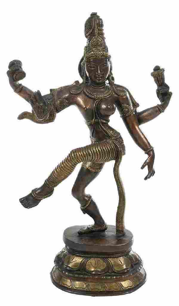 Bronze Figure of Hindu Deity Ardhanarishvara