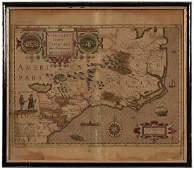 Theodore DeBry Virginia and Florida Map
