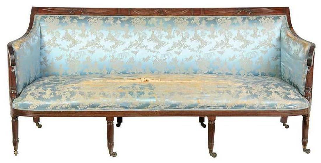 New York Federal Carved Mahogany Sofa