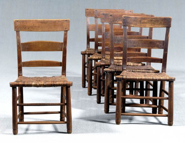5: Set of six North Carolina chairs: