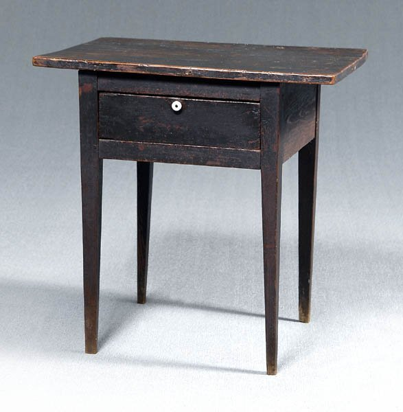 8: Southern painted one drawer stand,