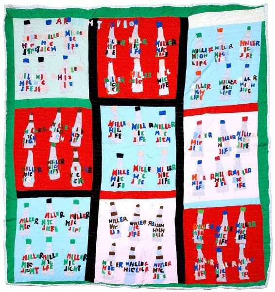 12: Sarah Mary Taylor applique quilt,