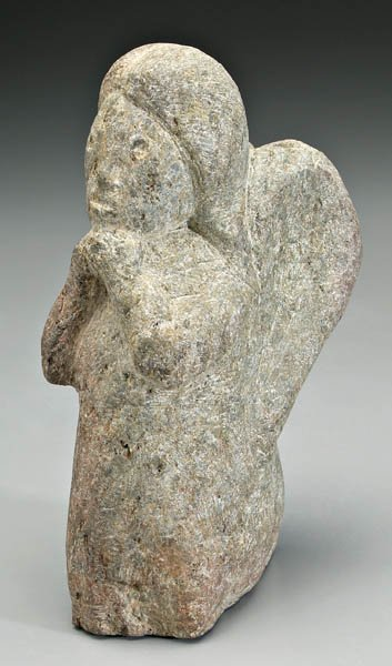 16: Charles Simmons stone carving,